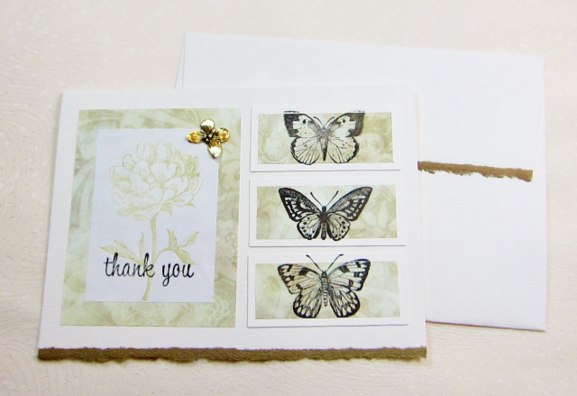 Thank You Card - Butterflies (TY 021)