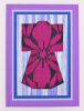 Vintage Kimono Silk Greeting Card - Purple Flower (KI 068)