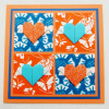 Origami Flying Hearts Greeting Card - Square (OH 017)