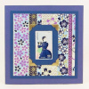 Genuine Japanese Postal Stamp Greeting Card - Beauty with Binoculars (JS 022)